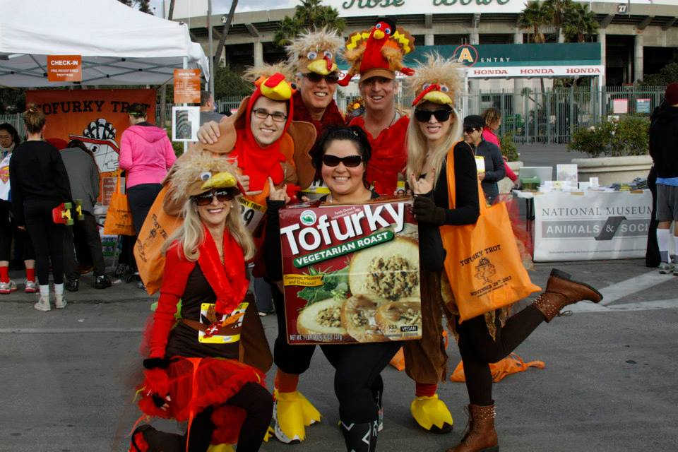 Costume people Rose Bowl Sign